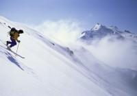 Na lyžiach.