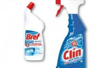 Veľká jarná očista s čistiacim prostriedkami Bref.