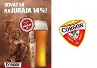 Limitovaný extra horký pivný špeciál – Corgoň Juraj 14%.
