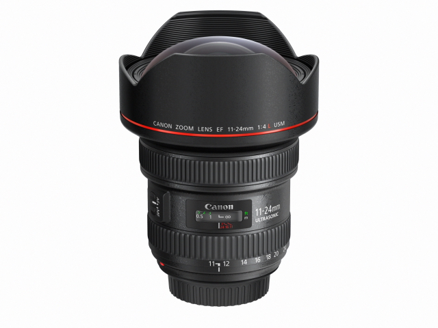 EF 11-24mm f4L USM Slant with cap+