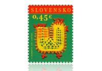 Slovenská pošta vydala veľkonočnú známku s motívom tradičnej paličkovanej čipky.