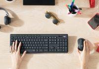 Tichá myš a tichá klávesnica Logitech MK295 Silent Wireless Combo