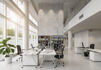 Moderné kancelárske priestory zariadené tak, aby neohrozovali zamestnancov